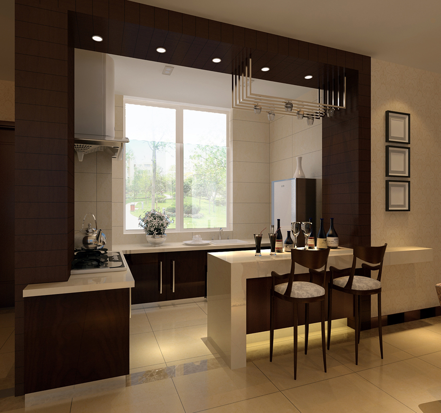 饭厅效果图,睡房效果图,厨房效果图 - 室内装修设计